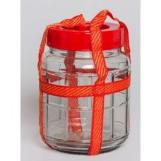 Бутыль стеклянная с гидрозатвором 12л