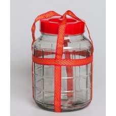 Бутыль стеклянная с гидрозатвором 5л