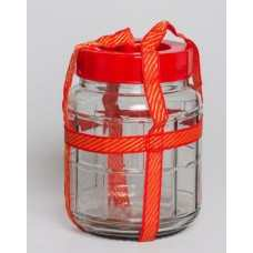 Бутыль стеклянная с гидрозатвором 9л